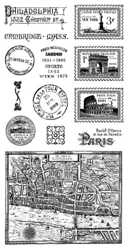Cling Stamp Cityscapes 2 Hampton Art for Graphic 45