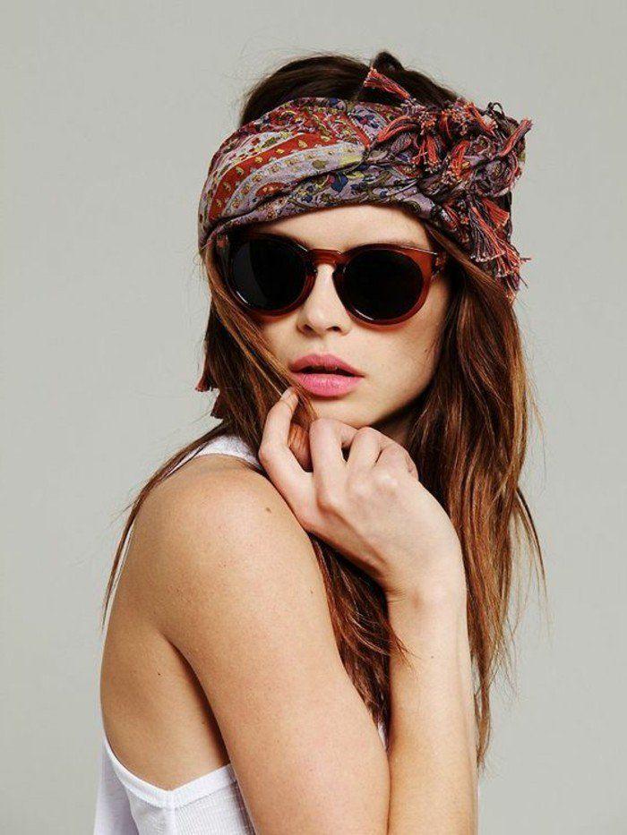 1000 id es propos de coiffure avec foulard sur pinterest coiffure avec bandeau bandeau de - Foulard pour cheveux tendance ...