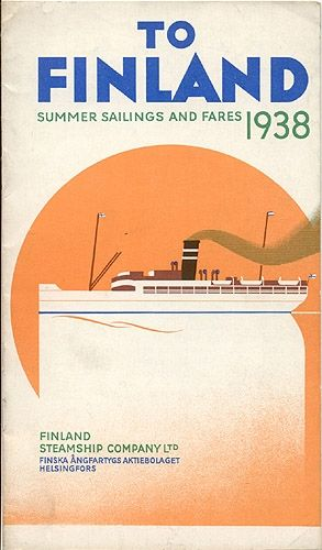 """""""To Finland - Summer Sailings and Fares 1938"""""""