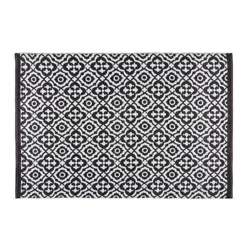 Tapis de jardin motifs noirs et blancs 140x200cm COROLIA