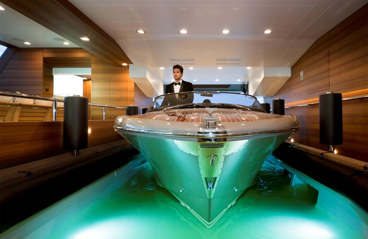 ever have so much money that you use a small boat to get into your bigger boat? :P    the CRN Yachts - Tender Bay MY J'ade 60meter    more photos: http://www.designboom.com/technology/crn-mega-yachts-jade-09-29-2014/    video: https://www.youtube.com/watch?v=2AukKcfvX2U    official webpage: http://www.crn-yacht.com/