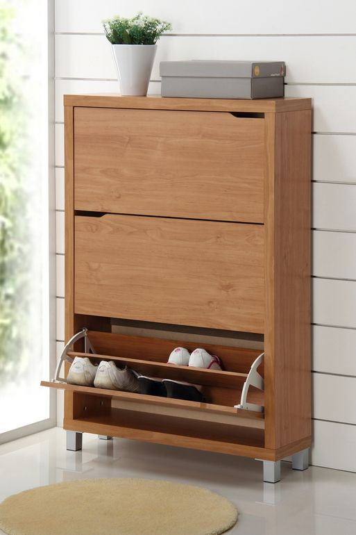 Wholesale Interiors Baxton Studio Simms Maple Modern Shoe Cabinet