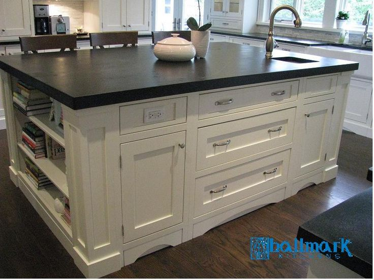 Inset doors/drawers - island