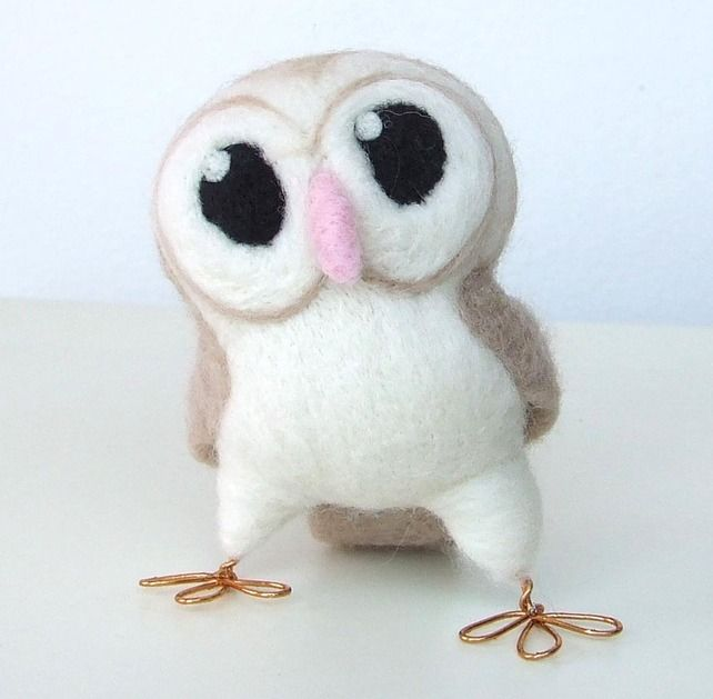 Tweet Hoot Little Barn Owl in soft Browns at Folksy. Wow this lady is very talented and my grand baby might need one of these owls for his room. Never too early to introduce art. :)