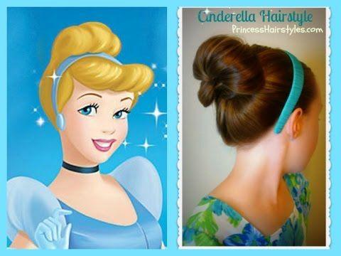Cinderella Hairstyle Tutorial, Princess Hairstyles - YouTube
