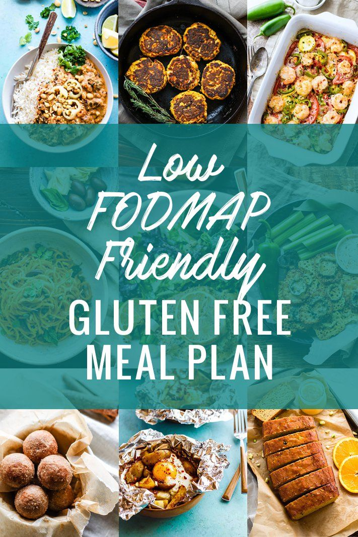This Low FODMAP friendly Gluten Free Meal Plan is a great tool to help you resolve those pesky digestive issues. Learn what FODMAPS are, what foods they come from,  and recipes for those who might be FODMAP sensitive. A great tool to help you resolve those unwanted digestive issues. www.cottercrunch.com