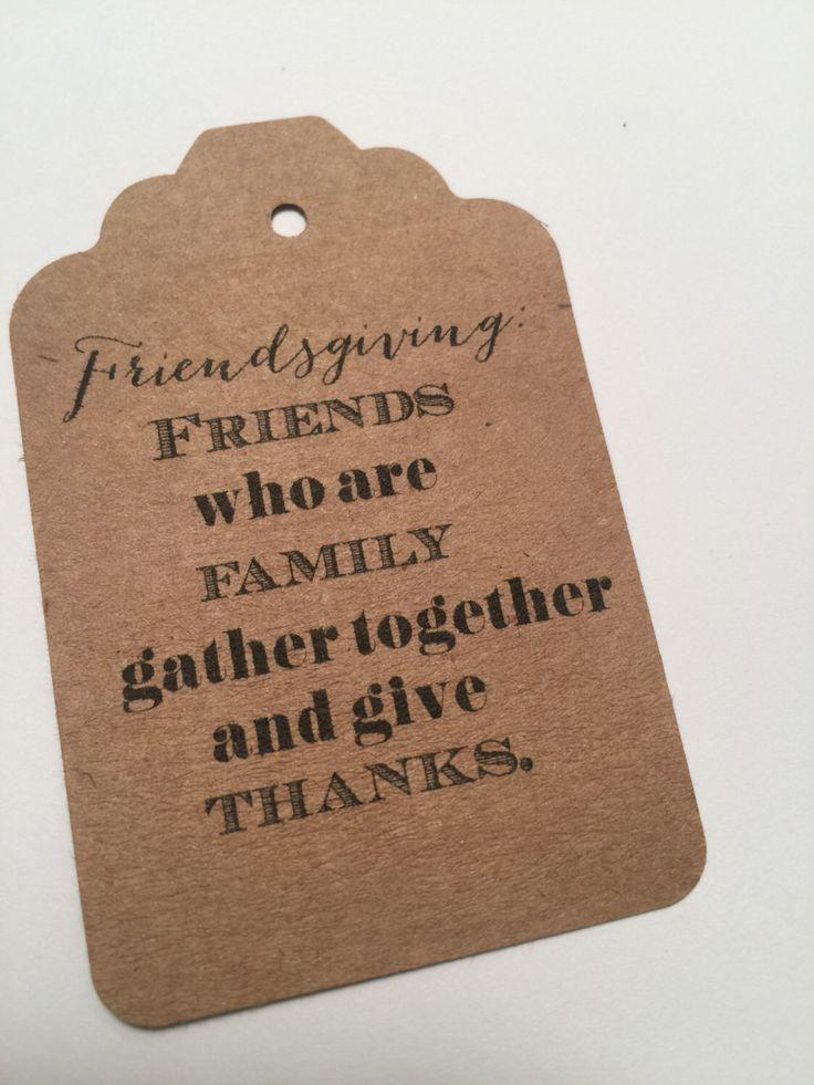 Set of 8 Kraft Friendsgiving Thanksgiving Gift Tags Favor Tags-Ships in 3-5 days! by SparkleandSparrow on Etsy https://www.etsy.com/listing/473269034/set-of-8-kraft-friendsgiving