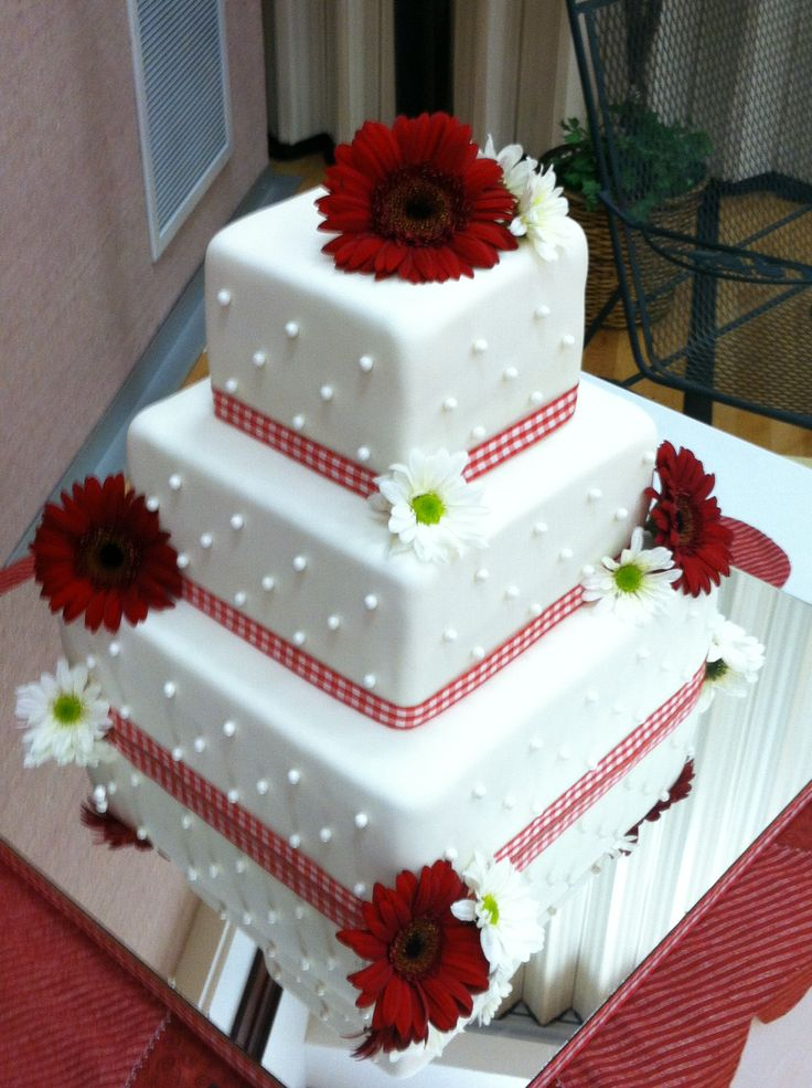 Picnic themed wedding cake for a good friend and his beautiful bride!
