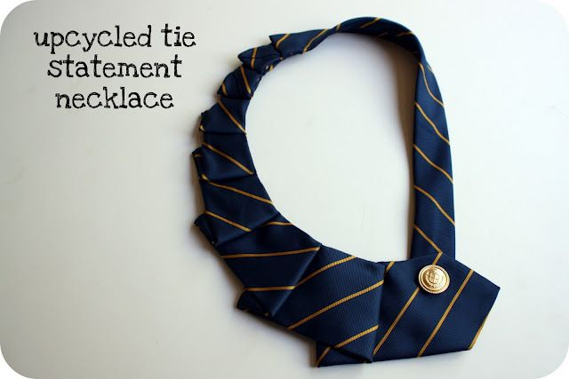 Basic sewing skills?  Check.  Access to hubby's old ties? Check.  New craft project? Check!