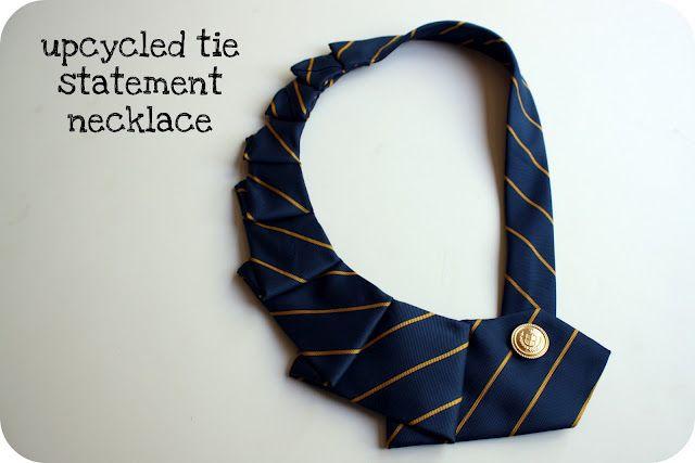 Necktie necklace: Craft, Crazy Wonderful, Statement Necklaces, Ties, Tie Statement, Necklace Tutorial