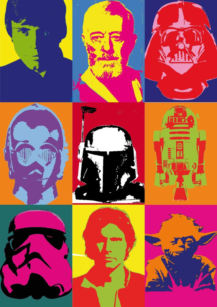 star wars andy warhol style comic pinterest. Black Bedroom Furniture Sets. Home Design Ideas