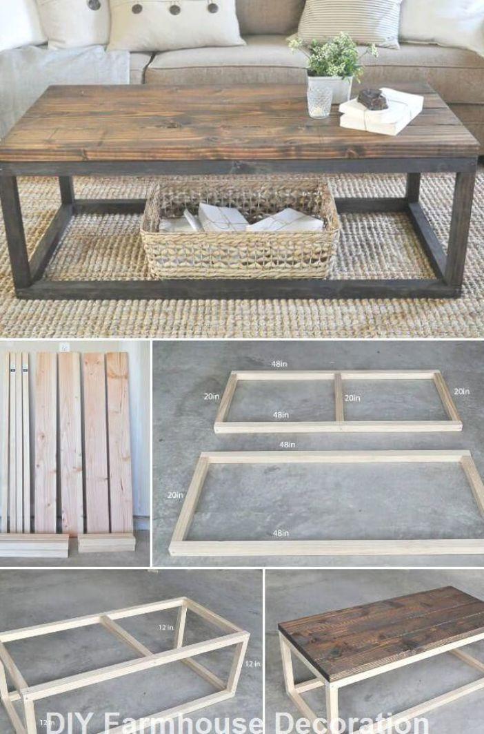 Diy Easy And Great Farmhouse Decor Ideas Diydecor Diy Furniture Easy Diy Wood Projects Furniture Diy Coffee Table