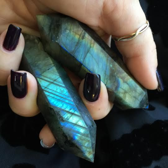Double-Terminated Labradorite Wand for New Moon Magic