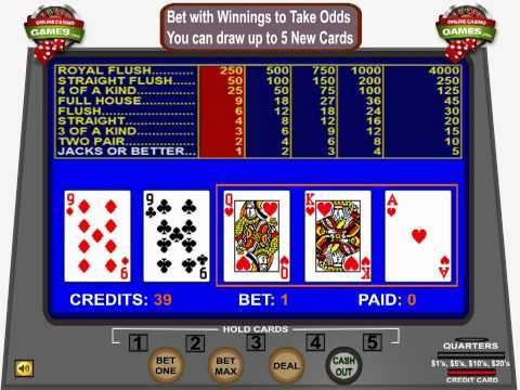 How to play video poker at a casino.