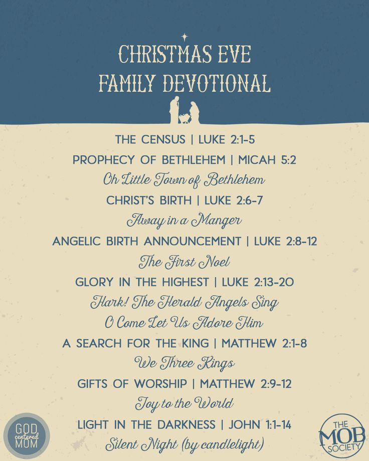 Guilt-Free Celebration Option: A Family Christmas Eve Service (PRINTABLE) — The MOB Society
