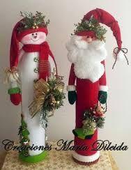 Resultado de imagen para muñecos de navidad 2015 con moldes