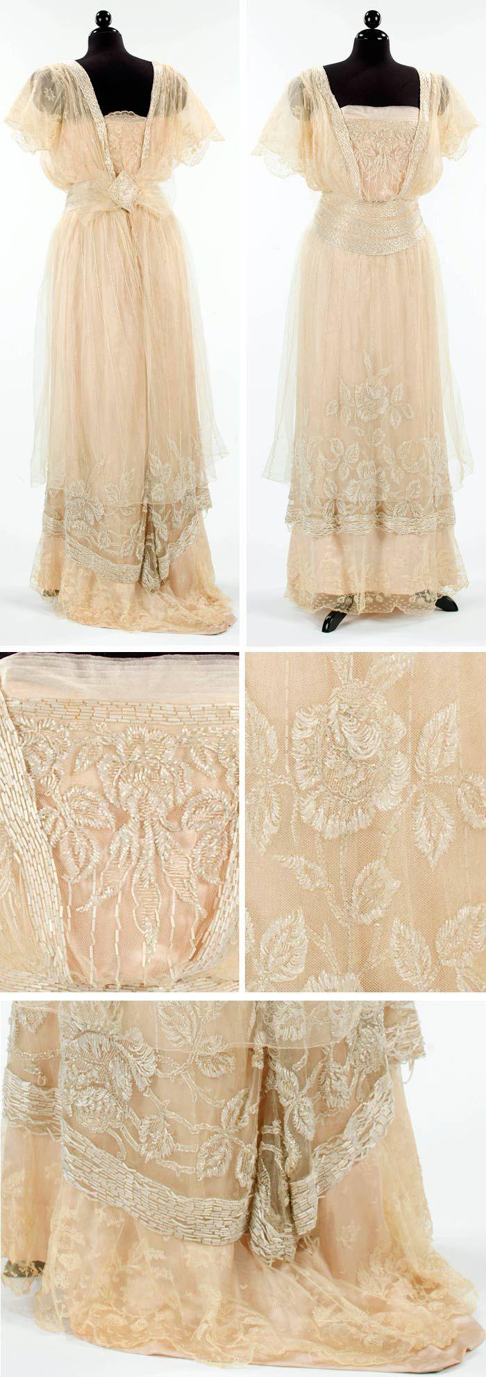 Evening dress, Plaza Gown Parlors, New York, 1911-12. Silk. Metropolitan Museum of Art