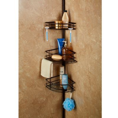 Spa Creations Colossal 3 Tier Pole Caddy With Plastic