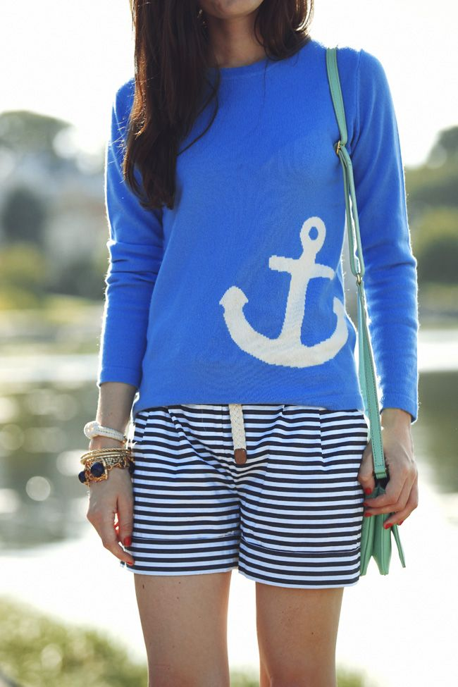 .: Anchor Sweater, Girls Wear, Anchors, Classy Girls, Style, Anchor Shirts, Bleach Anchor, Diy Bleach