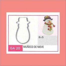Categoría: Cortantes Metalicos Galletas - Producto: Cortante Metal Muñeco De Nieve - Ga20 - Envase: Unidad - Presentación: X Unid. - Marca: Flogus