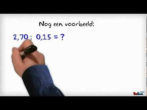 Decimale getallen delen - YouTube