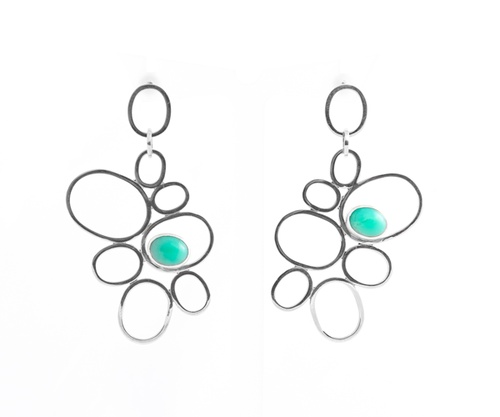Australian Chrysoprase Silver Earrings