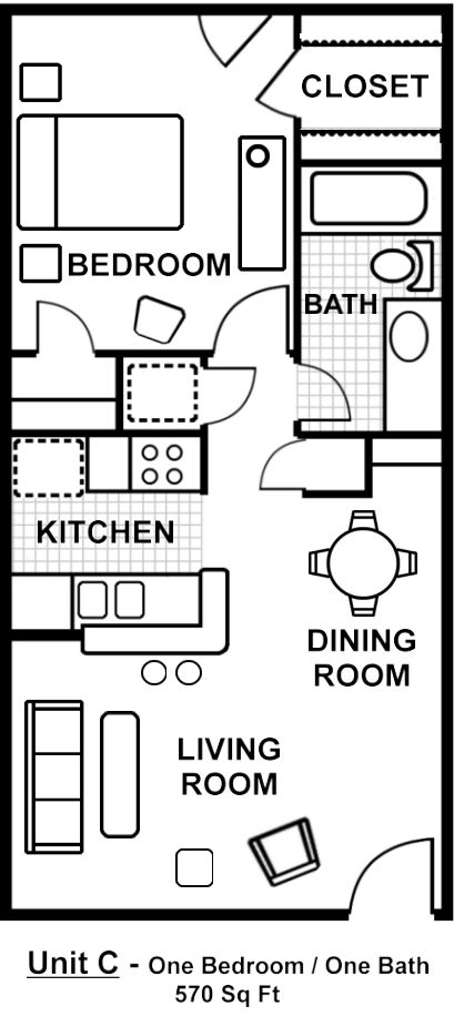 17 best ideas about 1 bedroom house plans on pinterest for 24 x 24 apartment layout