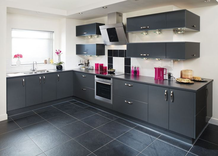 ultra modern tampa anthracite kitchen design kitchens pinterest lights fitted kitchens and grey - Kitchen Design Tampa
