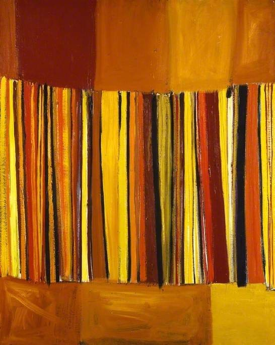 Orange and Yellow Verticals / Terry Frost / 1959 / oil on canvas