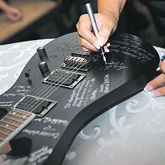 guitar Guest book. Wedding guest memories  ideas and inspirations for Weddings.