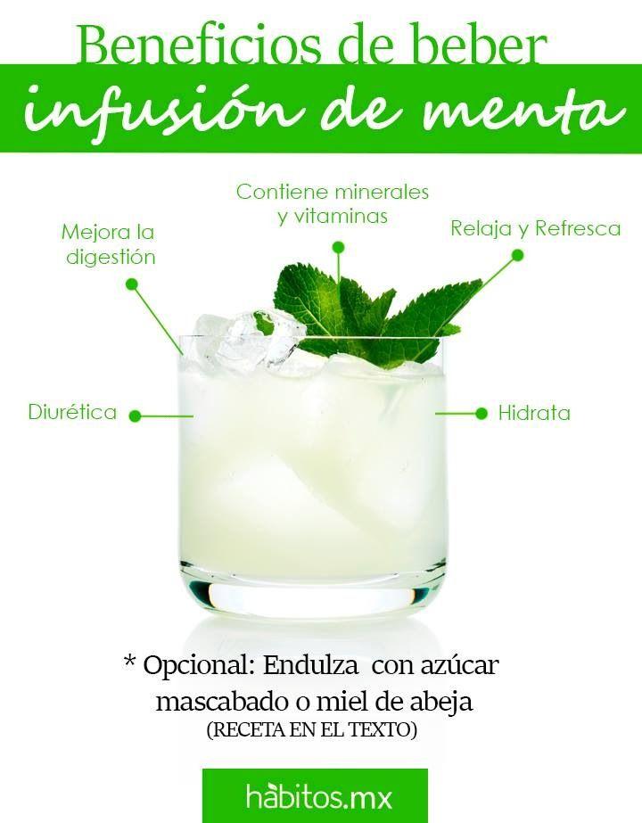 Beneficios de la infusion de menta, pones a hervir un litro de agua, se apaga al…