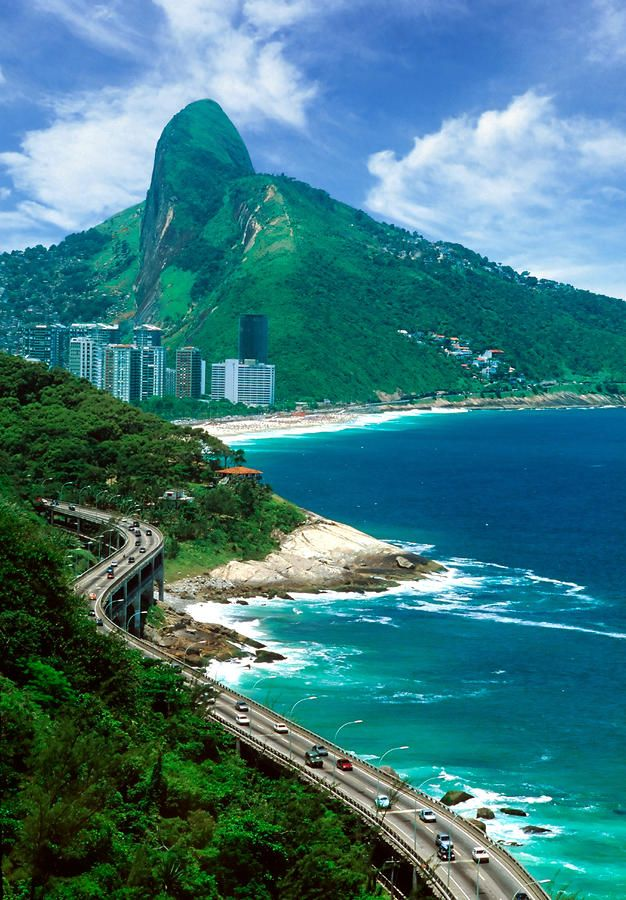 Rio De Janeiro, Brazil..this road is from Barra da Tijuka, through a tunnel to Copacabana. Lived here for 2 years...LOVED IT !!!