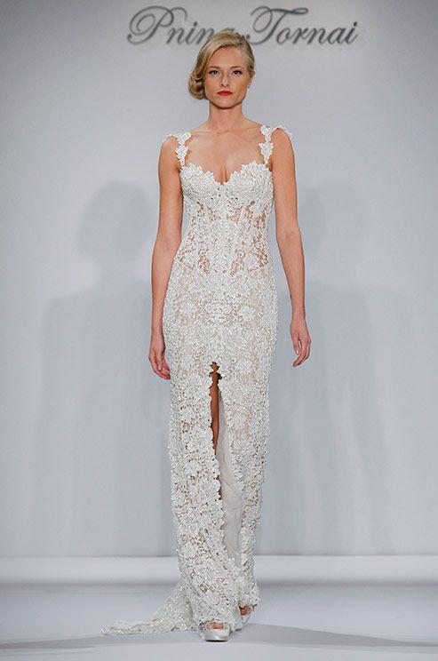 Sexy lace wedding dress by Pnina Tornai, 2015