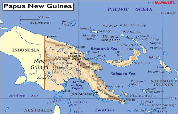 Port Moresby, Papua New Guinea Papua New Guinea Pinterest - new world map fiji country