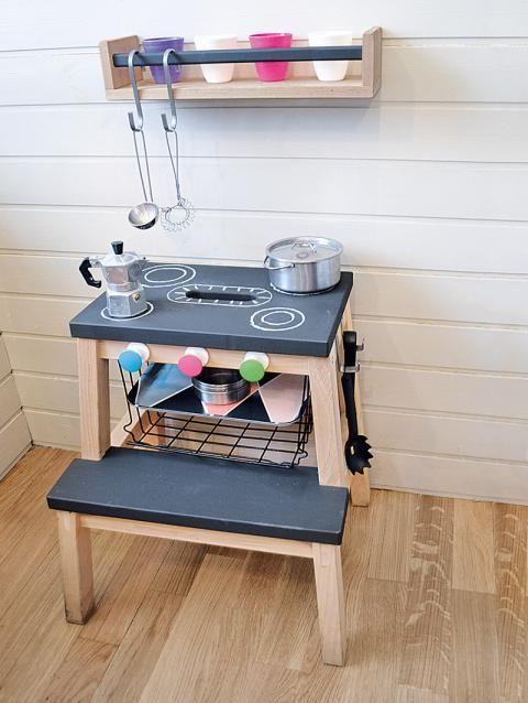 Super IKEA Hack: Küche für Kinder aus einem Tritthocker ...