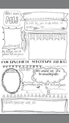 Een blad wat je leerlingen kan laten invullen voor een afscheidsboekje voor een stagiaire/ meester/ juf.