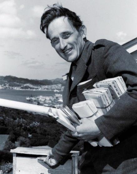 James K Baxter, New Zealand poet and postman.