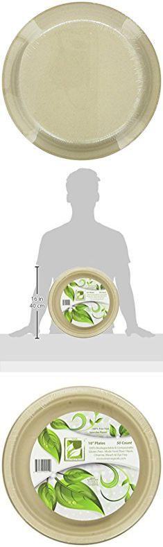 "Bagasse Plates. Earth's Natural Alternative Wheat Straw Fiber, Bagasse (Sugarcane) Tree Free 10"" Plate, 50 Pack.  #bagasse #plates #bagasseplates"