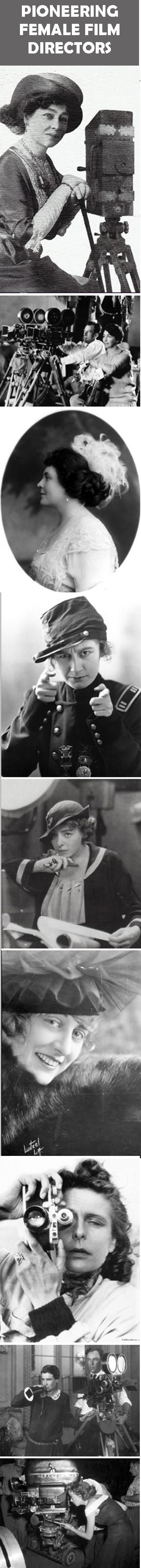 A sadly short list...most of these directors were also actresses: Alice Guy-Blache, Lois Weber, Paula Blackton, Ruth Stonehouse, Dorothy Davenport, Grace Cunard, Leni Riefenstahl, Dorothy Arzner and Ida Lupino. #women #film