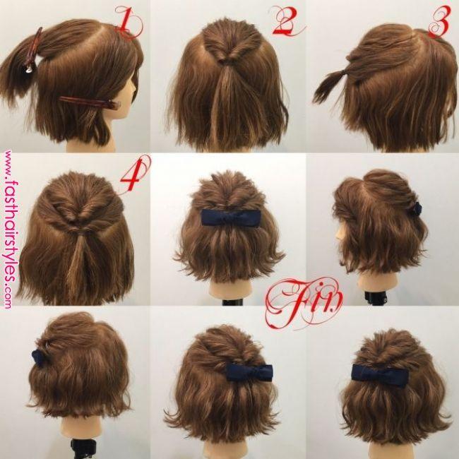 Tutorial Enkel Uppsattning Kort Har Fraga Frisoren Makeup Artisten Formal Hairstyles For Short Hair Short Hair Updo Hair Styles