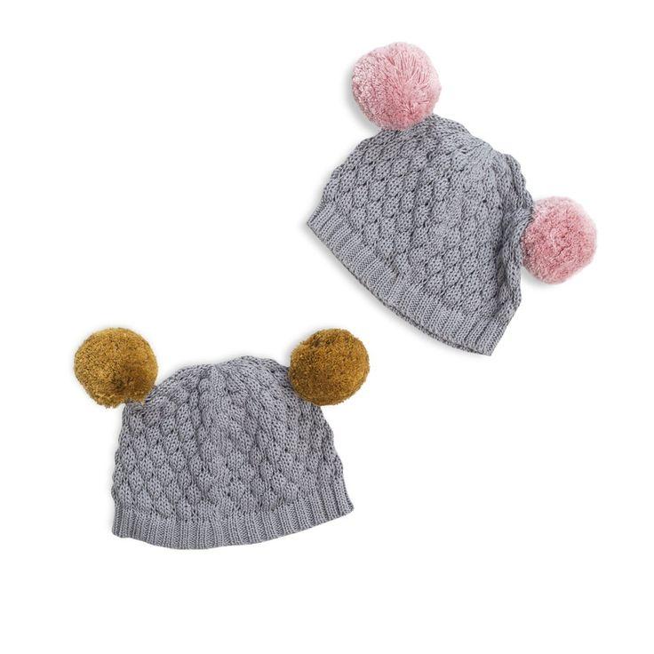 Bramble Beanie by Frankie Jones The Label (Autumn/Winter 2016) | knit beanie with pom poms | Baby Style | Baby Fashion | Baby Outfit | Boho Baby