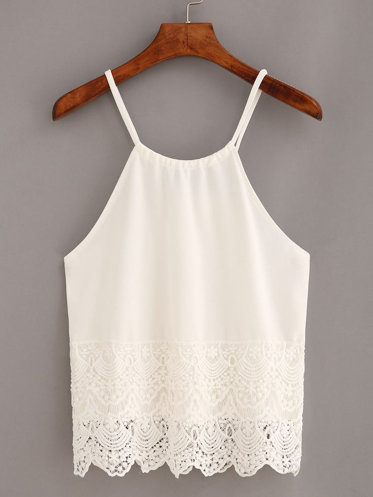Shop Lace Trimmed Keyhole Drawstring Neck Cami Top - White online. SheIn offers Lace Trimmed Keyhole Drawstring Neck Cami Top - White & more to fit your fashionable needs.