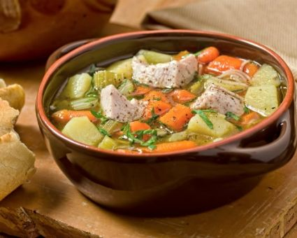 Turkey Bean Soup-use navy beans and chopped spinach, too