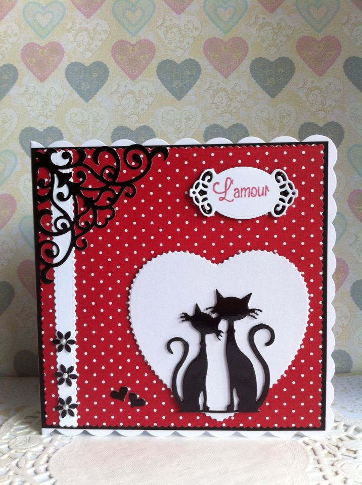 Marianne Design French Cats L'amour.