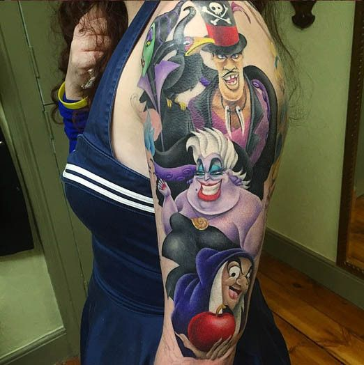 disney villain tattoos inked magazine tattoo