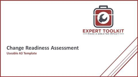 Use our Change Readiness Assessment Template to quickly assess your program!