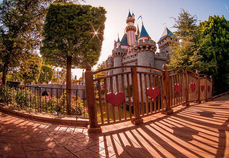 Disneyland - Lovers' Bridge to Fantasyland Capture detail