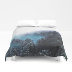 Have Faith In The Woods Duvet Cover    Cover yourself in creativity with our ultra soft microfiber duvet covers. Hand sewn and meticulously crafted, these lightweight duvet covers vividly feature your favorite designs with a soft white reverse side. A dur