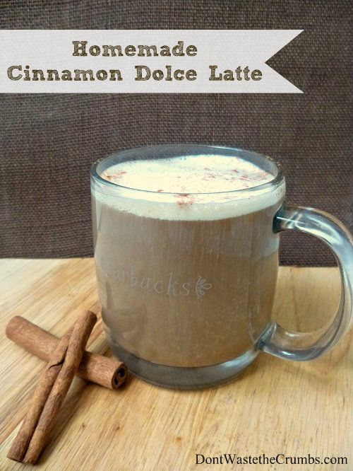 Another Starbucks inspired recipe made at home with real ingredients that can be made for mere pennies. Treat yourself to a Homemade Cinnamon Dolce Latte!