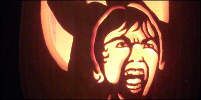 Psycho Shower Scene Pumpkin by Mister-JP